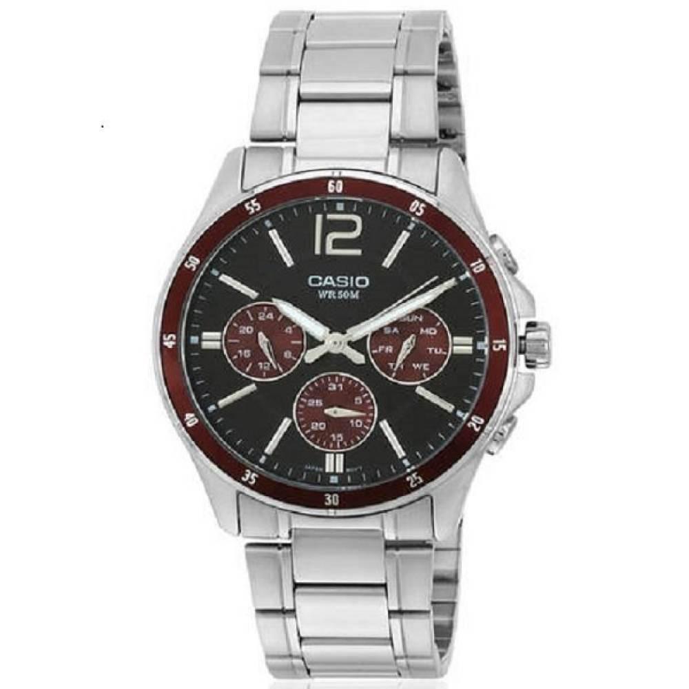 จัดส่งฟรีCasio นาฬิกาบุรุษ สายสแตนเลส MTP-1374D-5AVDF