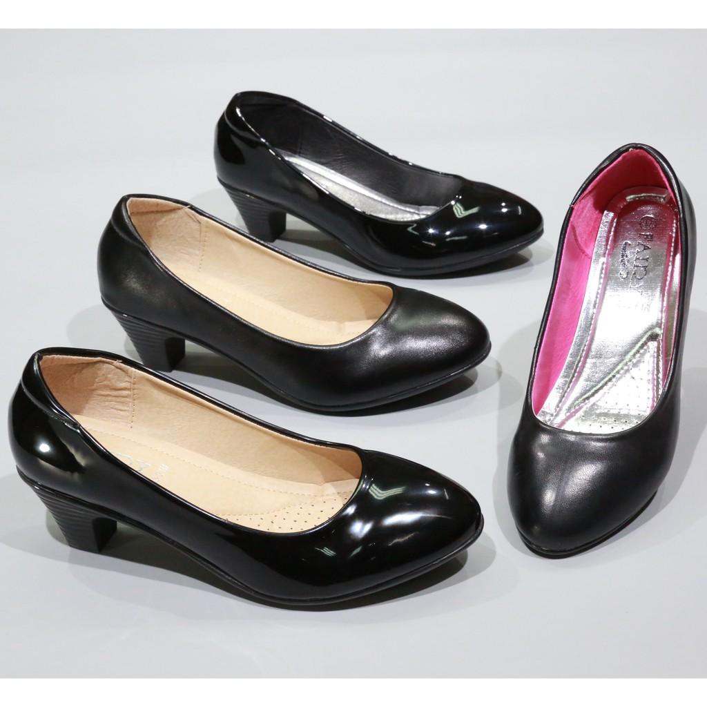 รองเท้าส้นสูง⌵รองเท้าส้นสูงผู้หญิง⌵ รองเท้า 833 รองเท้าส้นสูง รองเท้าคัชชูส้นสูง รองเท้าคัชชูสีดำ รองเท้านักศึกษา  ส้นลา