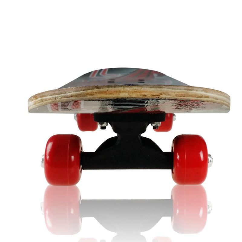 สเก็ตบอร์ด 4 ล้อ สเก็ตบอร์ดสำหรับเด็ก สเก็ตบอร์ด สำหรับผู้เริ่มเล่น หัดเล่น ความยาว 60 cm skateboard cometobuy
