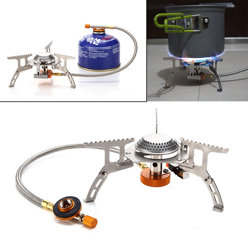 Campcookingsupplies Sports & Entertainment Outdoor Camping Gas Stove Adapter Three-leg Transfer Head Adaptor For Nozzle Gas Bottle Screwgate Stove Gear Tool Superior Performance