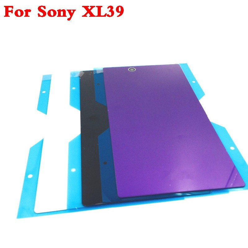 For Sony Xperia Z Ultra C6806 C6833 XL39H XL39 Glass Cases Battery Housing Cover