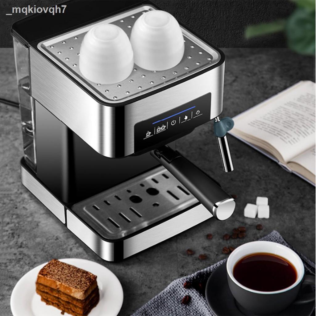 ☬❂✗เครื่องชงกาแฟ เครื่องชงกาแฟเอสเพรสโซ การทำโฟมนมแฟนซี การปรับความเข้มของกาแฟด้วยตนเอง เครื่องทำกาแฟขนาดเล็ก เครื่องทำ