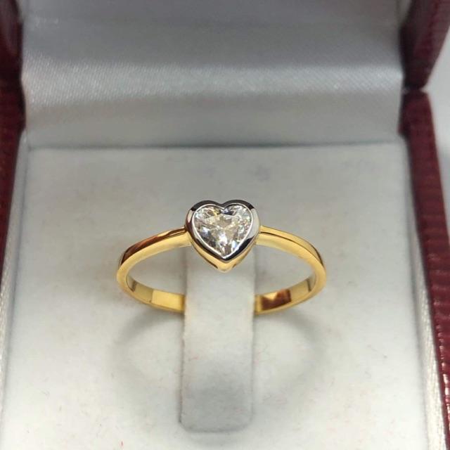 แหวนทองคำแท้หัวใจสวยๆหน้ารักราคาโรงงาน