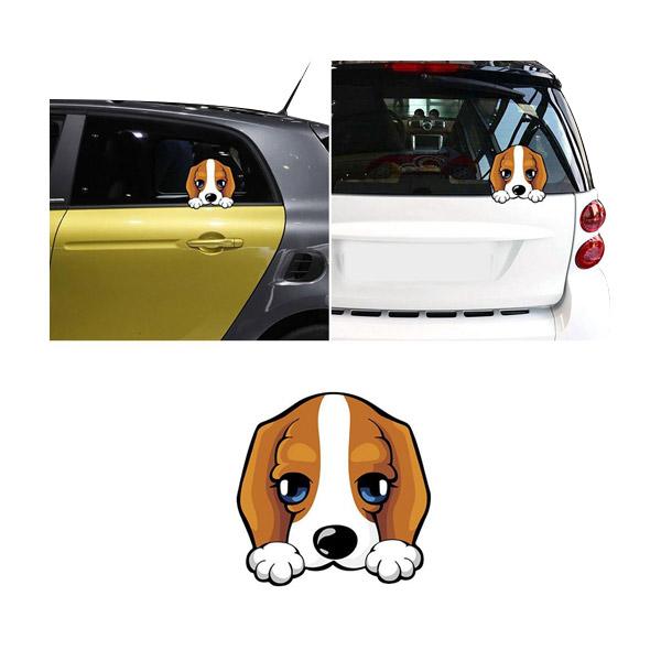 🚀 สติกเกอร์ติดรถยนต์ลายการ์ตูนน้องหมาน่ารัก
