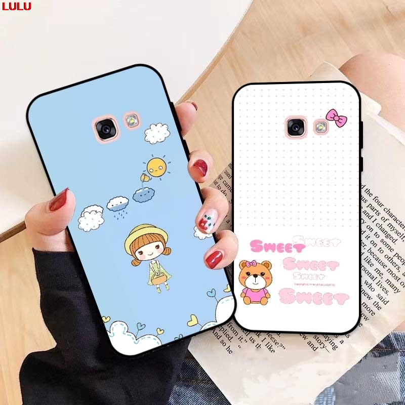 Lulu-For  Samsung A3 A5 A6 A7 A8 A9 Pro Star Plus 2015 2016 2017 2018 HMHD Pattern-5 Silicon Case Cover