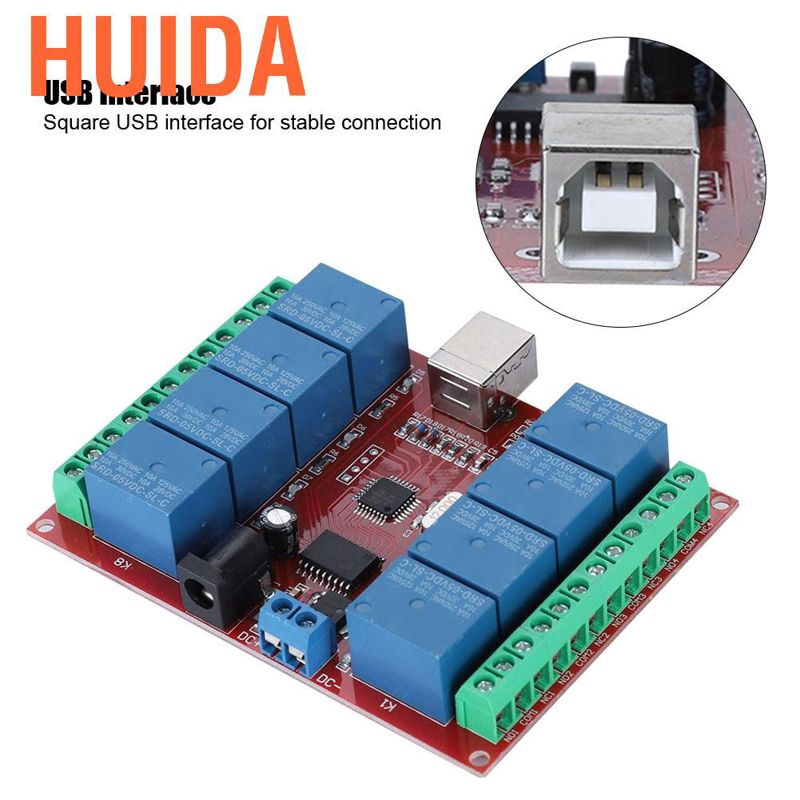 8-channel 5V Computer USB Intelligent Control Switch Relay Module Free driver