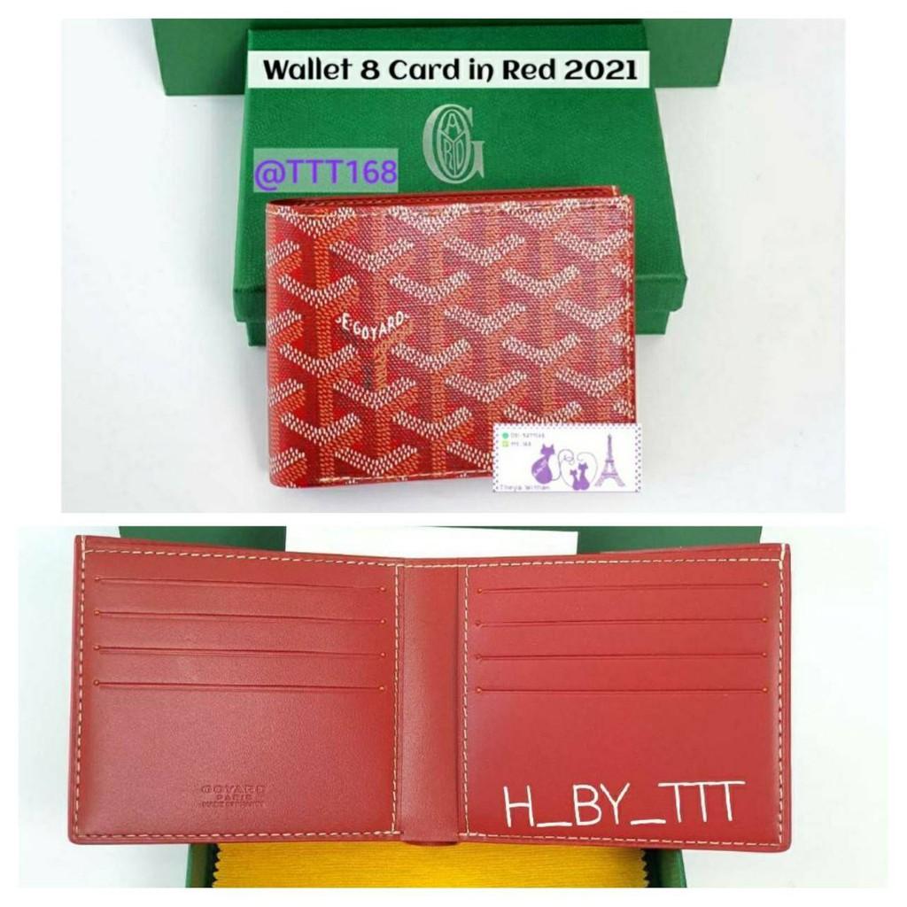 Goyard Men Wallet Victoire 8 card In Red กระเป๋าสตางค์ สีแดง ของแท้ 2021