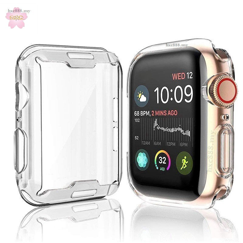 Apple Watch Case 38mm 40mm 42mm 44mm Transparent Soft Silicone Full Cover for iWatch Series 5/4/3/2/1