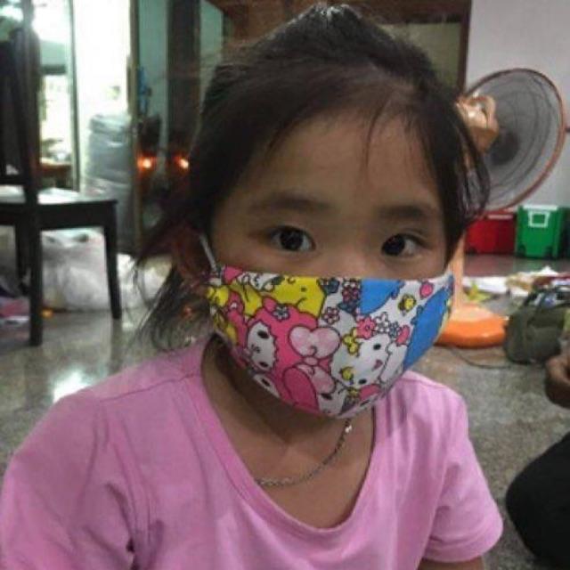 M ❌3ชิ้น130❌ ผ้าปิดจมูก เด็ก แมส Mask หนา2ชั้น