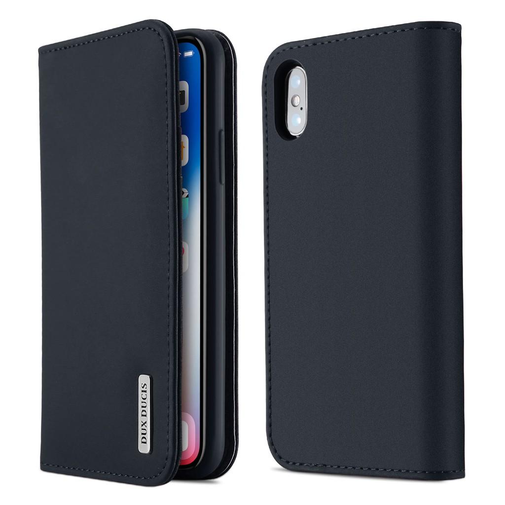 เคส Apple iPhone X โทรศัพท์มือถือหนังวัวแท้ Case iPhone Xs Casing Dux Ducis เคสหนังแบบพลิกได้หนังแท้ Cover ip x xs พลิกค