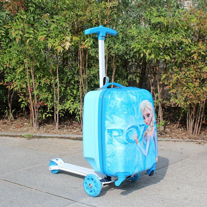 びぅ กระเป๋าเดินทางล้อลาก กระเป๋าเดินทางล้อลากใบเล็กกรณีรถเข็นกล่องสเก็ตบอร์ดสกู๊ตเตอร์รถเข็นกระเป๋าเดินทางจักรยานเด็กเด็ก