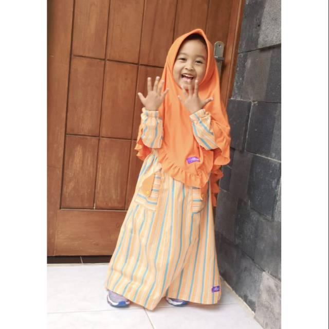 เสื้อผ้าเด็ก Azza Kildren 's Gamis Salur