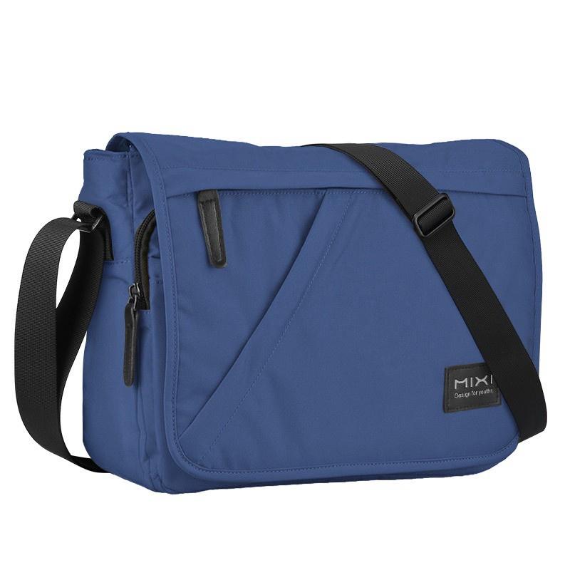 (ลดล้างสต๊อก)Mixi 14นิ้วผู้ชายวัยรุ่นกระเป๋าเป้เดินทางกันน้ำสบายๆความจุมากซับในไนลอนกระเป๋าสะพายข้างM5177