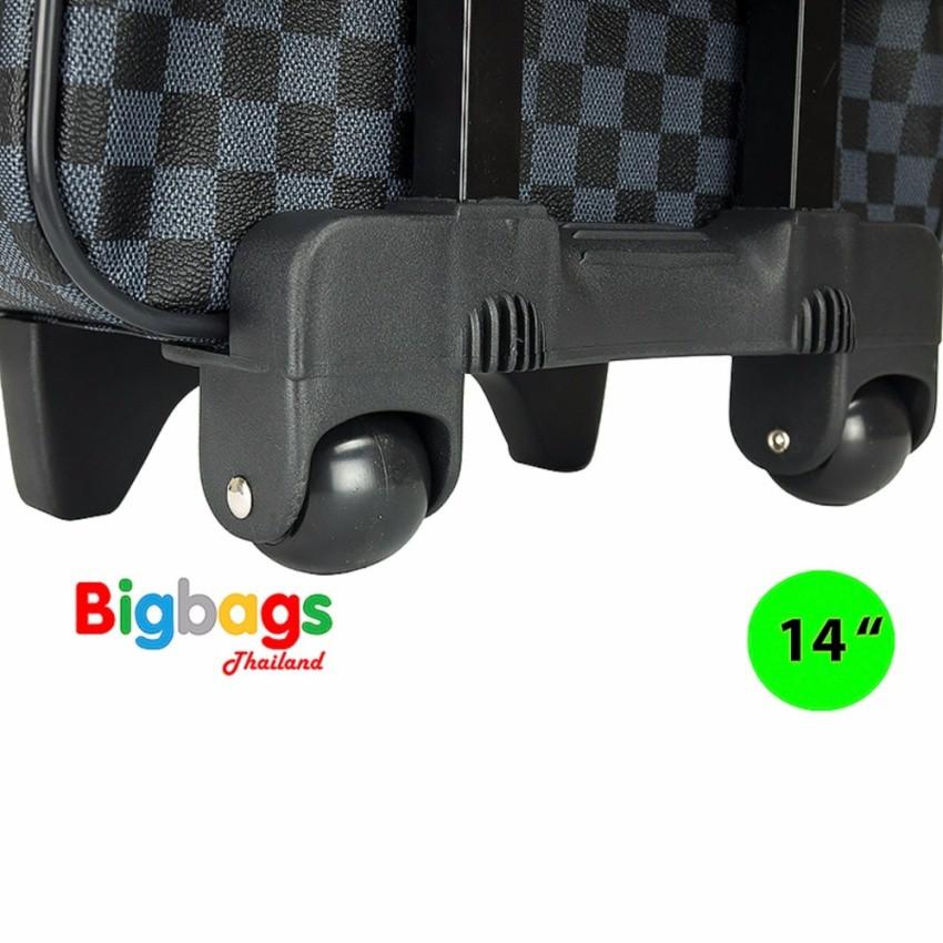 Polo กระเป๋าเดินทางล้อลาก 14 นิ้ว รุ่น 92214 (Grey Black) qS3b