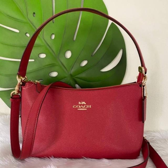 พร้อมส่ง❗️แท้💯🇺🇸Coach สะพายข้าง สี Red LEWIS SHOULDER BAG (#COACH #F80058)