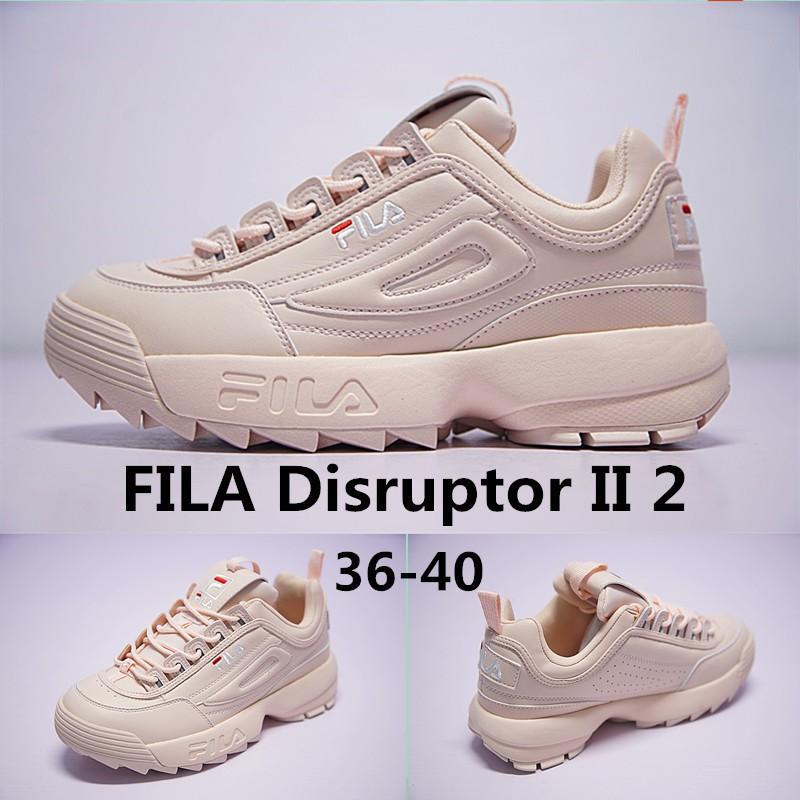 Fila DISRUPTOR II 2 รองเท้าผ้าใบรองเท้าวิ่ง