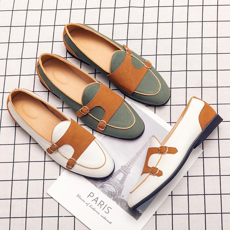 รองเท้าผู้ชาย size38~48 รองเท้า ไซส์ใหญ่ รองเท้าหนังแบบสวม รองเท้าหนัง รองเท้าคัชชูสีดำ รองเท้าผู้ชาย slip ons เพิ่มความสูง