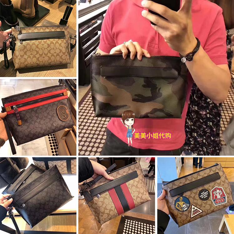กระเป๋าผ้าของแท้จากอเมริกาCOACH/กระเป๋า COACH กระเป๋าคลัทช์ ธุรกิจกระเป๋ามือกระเป๋าสตางค์ซองกระเป๋าคลัทช์ข้อมือ jANS