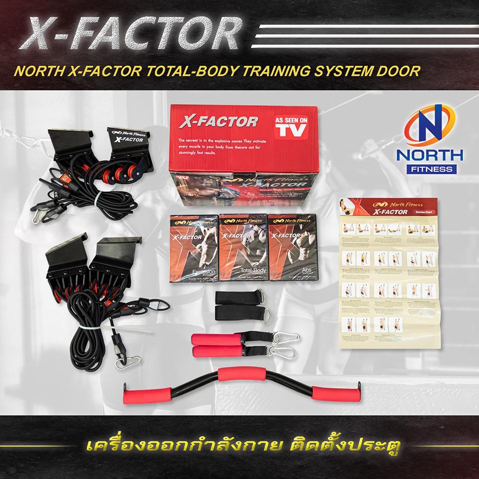 [ส่งเร็วมาก][พร้อมจัดส่ง] X-Factor By North Fitness เครื่องออกกำลังกายสายแรงต้านยางยืดติดตั้งกับประตู ออกกำลังกาย rWoQ