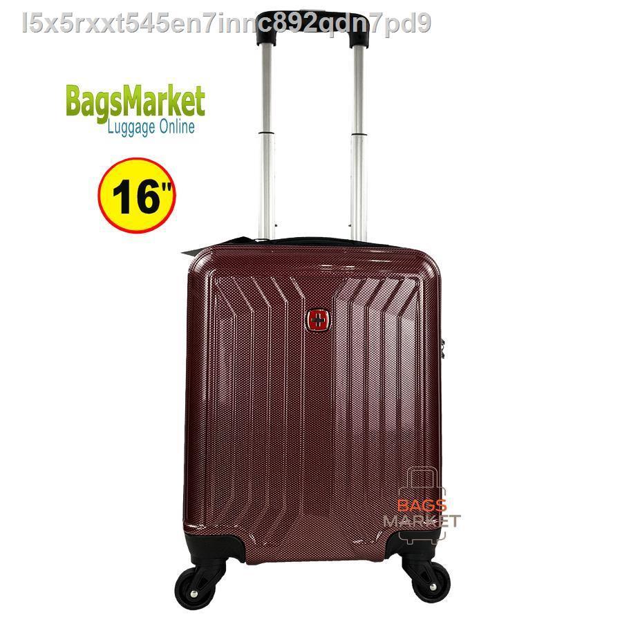 【มีสินค้า】🔥มีของพร้อมส่ง🔥ลดราคา🔥△BB-SHOP กระเป๋าเดินทาง Swiss Saint 2009 ขนาด 16 นิ้วล้อหมุน 360 ° Polycarbonate