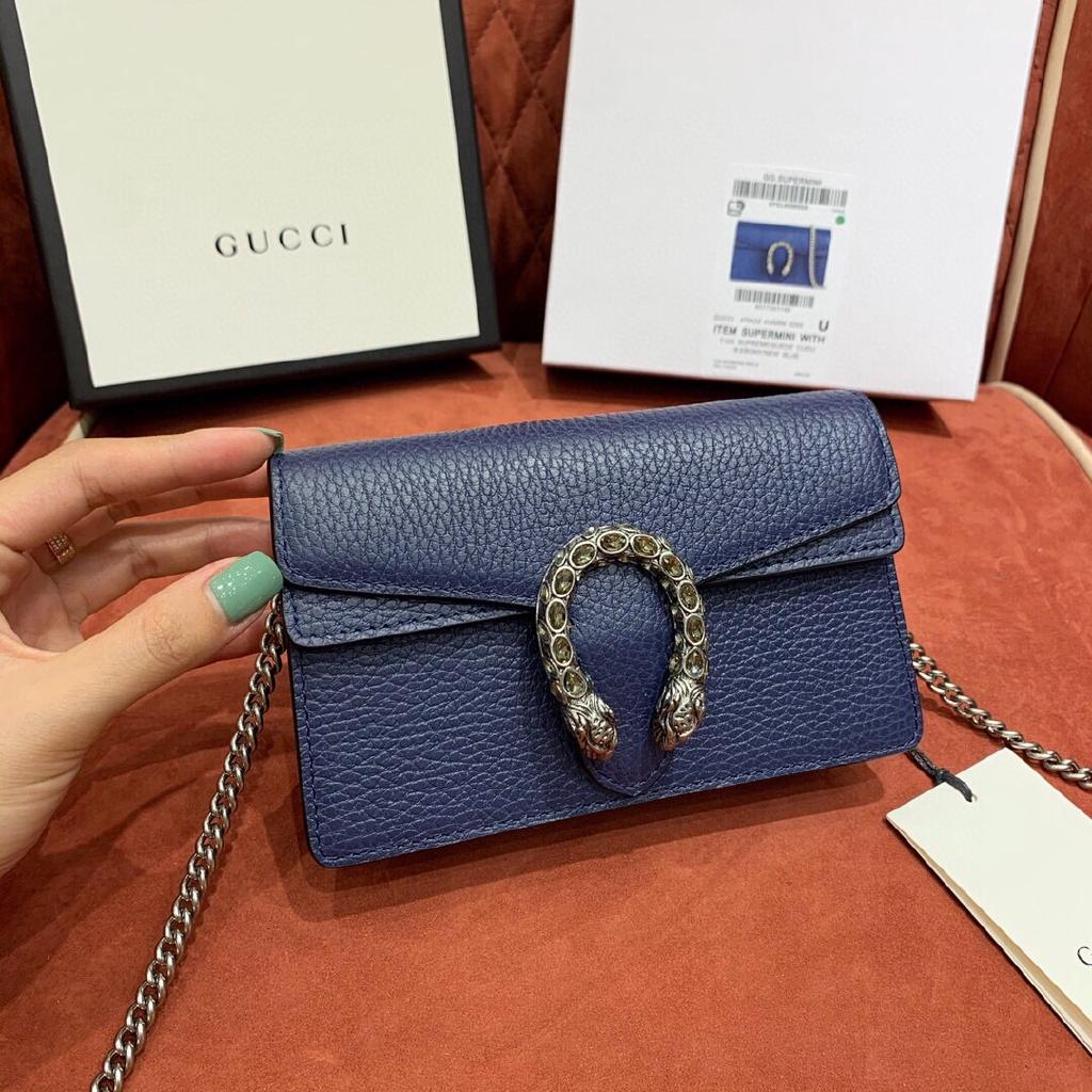 Gucci กุชชี่ supermini dionysus wallet on chainกระเป๋าสะพายกระเป๋าสะพายไหล่กระเป๋าสะพายข้าง หนังแท้แบรนด์เนน