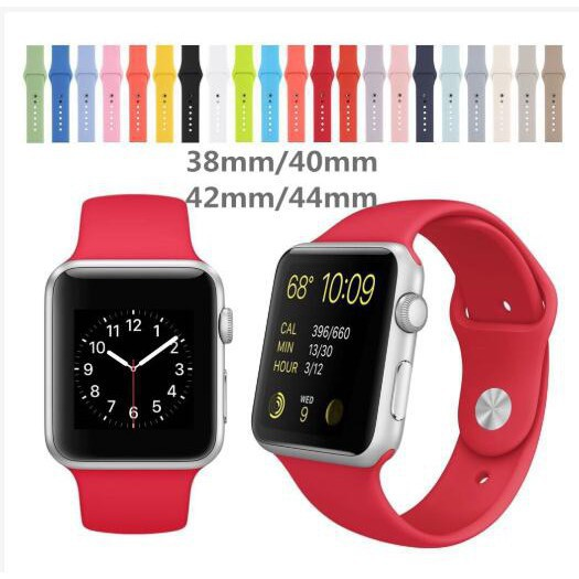 ❇Apple Watch series 1/2/3/4/5/6/ strap 38 / 40mm & 42 / 44mm iWatch Strap 1 2 3 4 5 6 สายนาฬิกาข้อมือ TPU Apple Watch 1