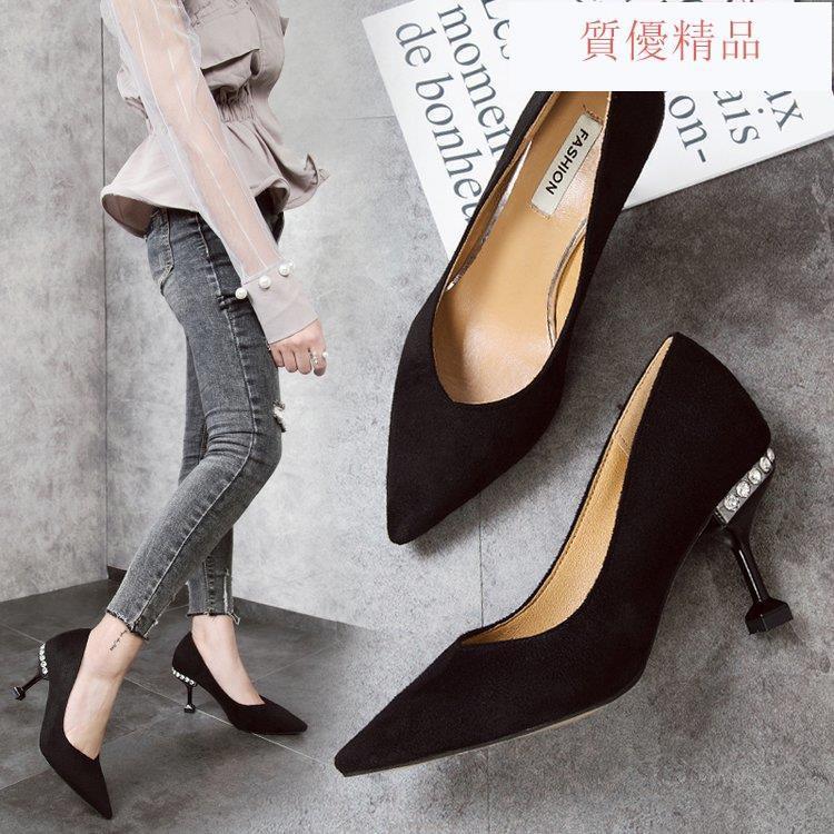 รองเท้าคัชชู หัวแหลม ส้นสูง สไตล์เกาหลี  สำหรับผู้หญิง