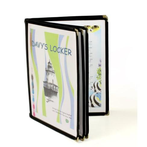 10 Books A4 Restaurant Cafe Transparent Clear Menu Cover 6 Pocket 12 Pages Cover Jacket Jgt3