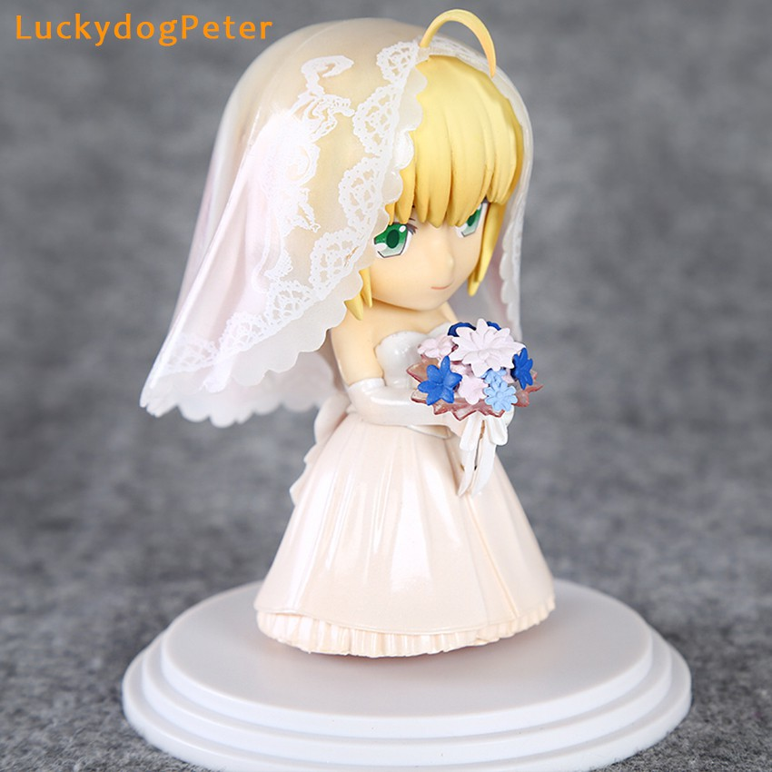 ﹊¤✿Toy Action-Figure Saber Anniversary Fate Stay Doll PVC 10CM Brinquedos Garage-Kit Royal-Dress