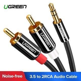 Ugreen (AV116)RCA Audio Cable 3.5mm Stereo Jack to 2 RCA Phono Y Audio Splitter for MP3( 0.5-8เมตร)