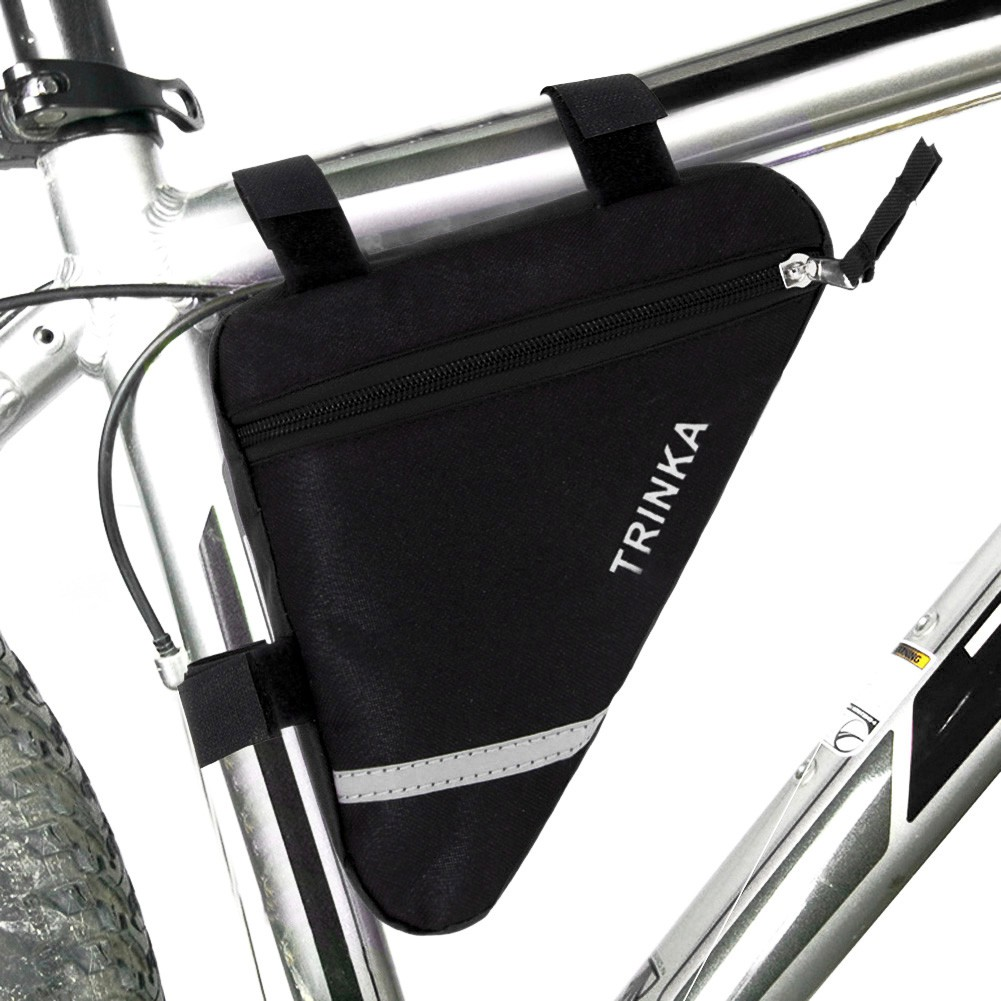 Bike Bicycle Triangle Frame Bag Cycling Front Tube Seat Pouch Holder Saddle Bag