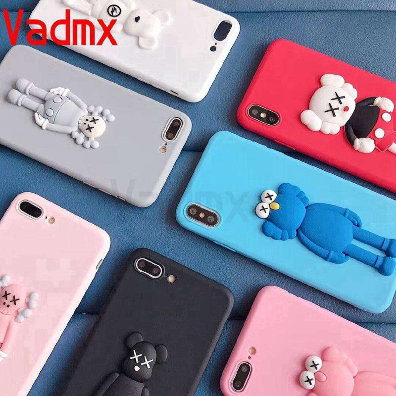 For iPhone 12 Pro Max 12 Mini 11 Pro Max Phone Case Cute Kaws Candy Fashion Soft TPU Back Cover Case