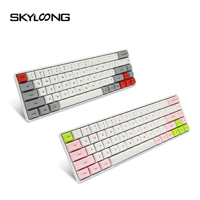 SKYLOONG SK68 PCB Mechanical keyboard Wireless Bluetooth Gaming Keyboard Hot Swappable ABS Keycaps Detachable Cable For