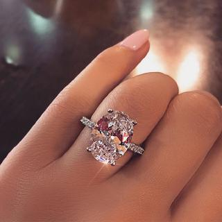 9 Carats Luxury Created Moissanite Diamond Ring S925 Silver RADIANT Cut 9*13mm Women Ring