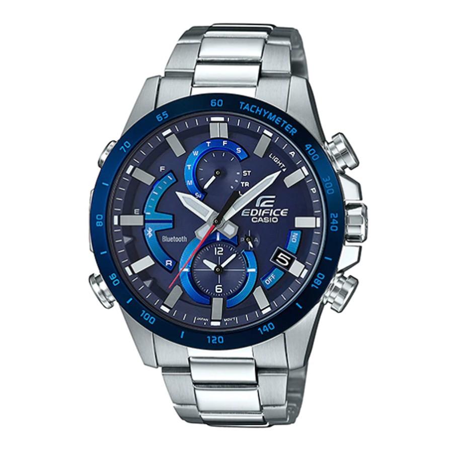 Casio Edifice นาฬิกาข้อมือผู้ชาย สายสแตนเลส รุ่น EQB-900DB,EQB-900DB-2A,EQB-900DB-2ADR - สีเงิน