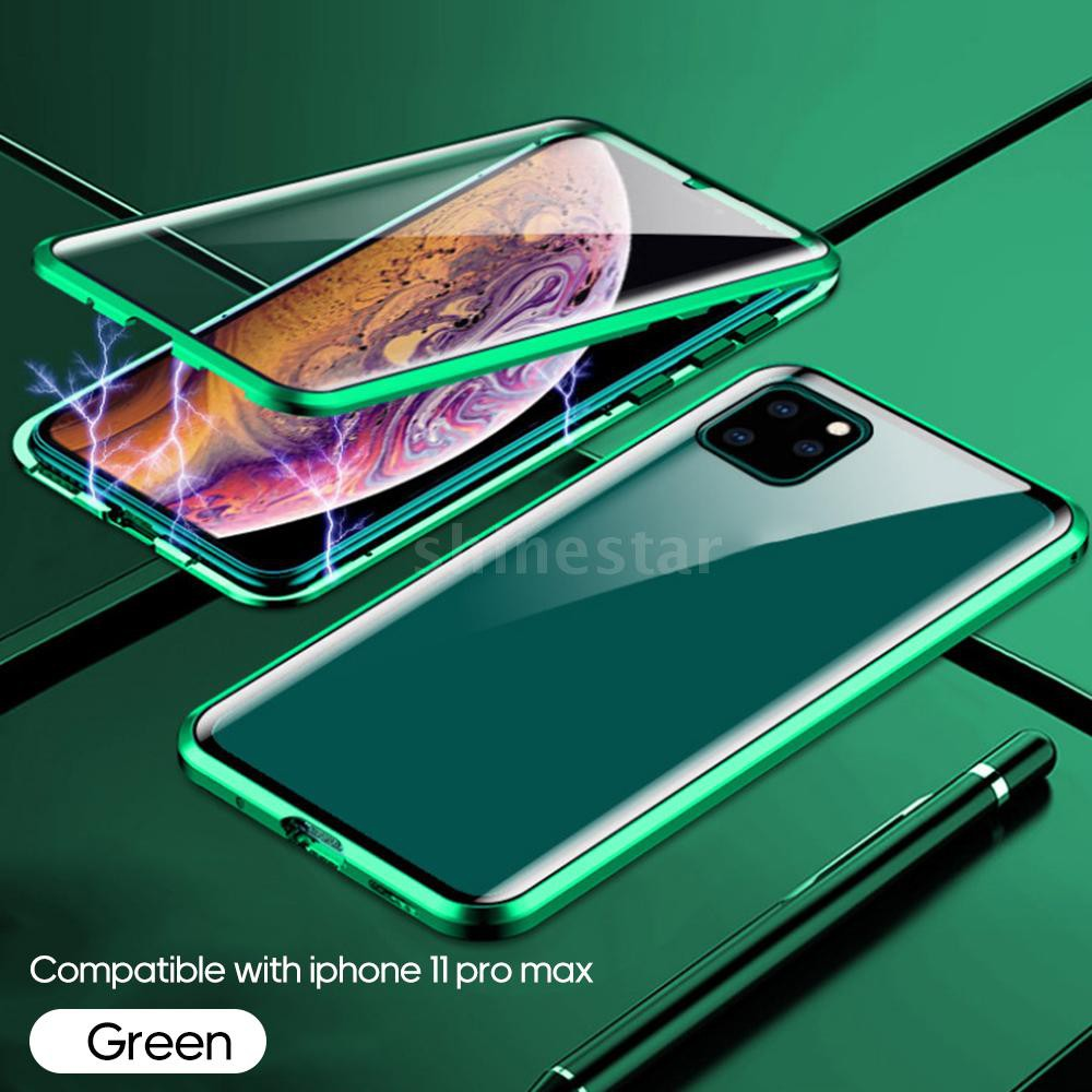 เคสโทรศัพท์มือถือแบบสองด้านสําหรับ Iphone 11 / Pro / Max