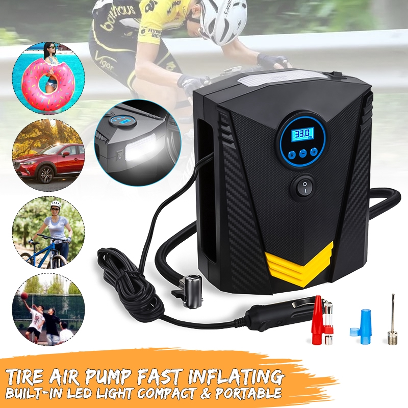 19 Cylinder Digital Display Car Tyre Air Inflator Tire Portable 150PSI  LED