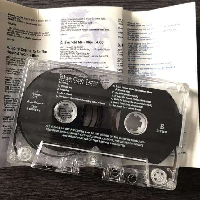 🛒 (พร้อมส่ง) เทปเพลง: Blue - One Love - Special Asian edition [2002