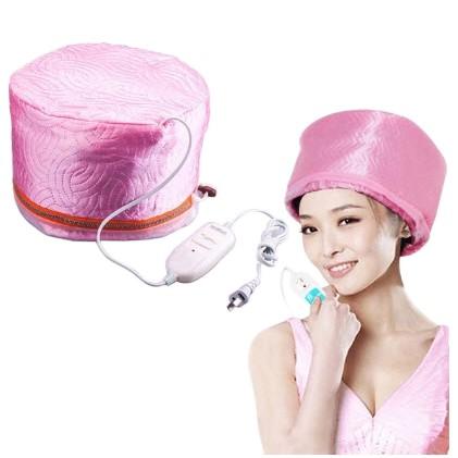 ☏(สินค้าตรงตามรูป) หมวกอบไอน้ำ บำรุงผม พร้อมอุปกรณ์ [คละสี]