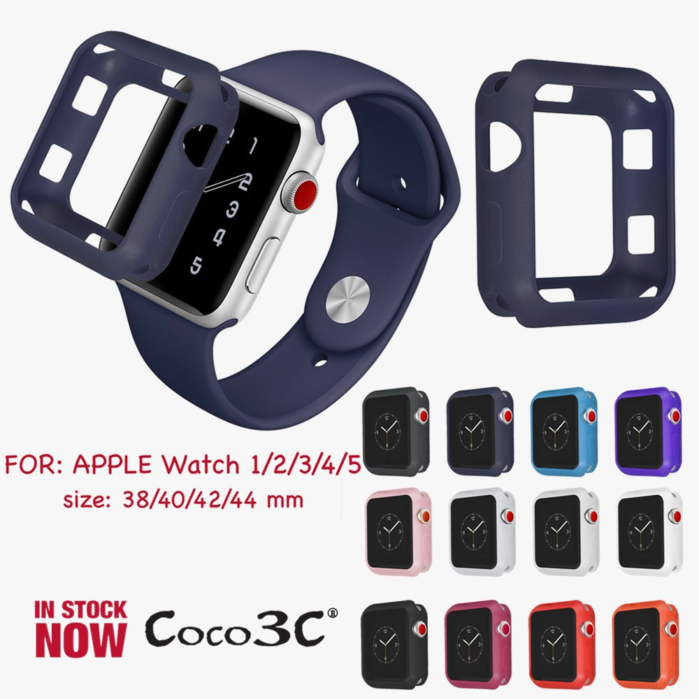 Silicone Apple Watch Case Shock-Proof iWatch Series 1 2 3 4 5 Cover 40MM 44MM 38MM 42MM
