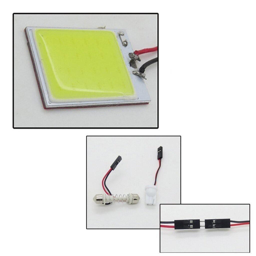 🌻💋📣✾☋❐ไฟ เพดาน รถยนต์ กลาง เก๋ง ส่อง สัมภาระ หลอดไฟ 48 SMD COB LED T 10 4 W 12V จำนวน 1แผง แท้ 100 % (สีขาว) สำหรับต
