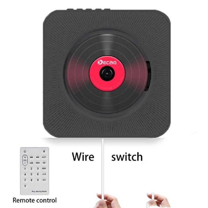 aluo - เครื่องเล่น CD ฟังเพลง แบบบลูทูธ เครื่องเล่นcd เครื่องเล่นซีดีพกพา เครื่องเล่นติดผนัง