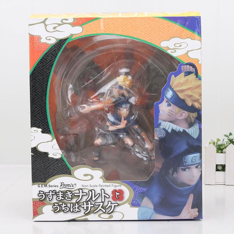 ﺴ18cm Naruto Uzumaki Uchiha Sasuke Whirlwind PVC action Figure Model Toy