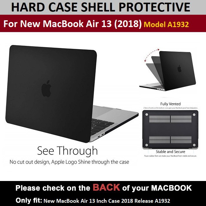 Frosted Matte Hard Shell Case Cover for 2018 Newest Macbook Air 13 inch A1932