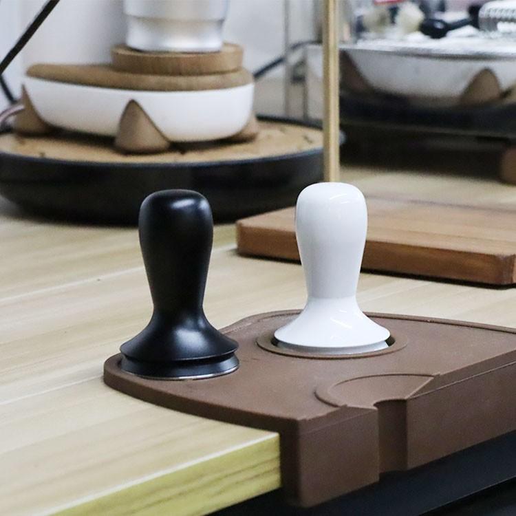เตา moka pot♞เครื่องผงกาแฟสแตนเลส ค้อนผง ด้ามอลูมิเนียม เครื่องทำผ้า เครื่องทำผงกาแฟ 58.4 มม.