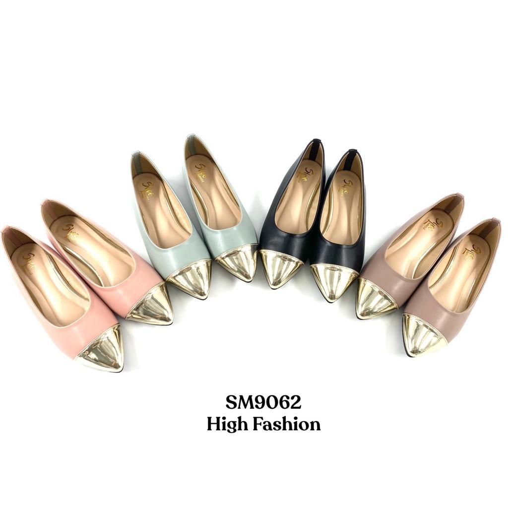 Mindy รุ่น 9062 | ส่งไว | พร้อมส่ง |  รองเท้าคัชชูส้นเตี้ย ใส่สบาย พื้นนิ่ม รองเท้าผู้หญิง ทำงาน รองเท้าคัชชู หัวแหลม