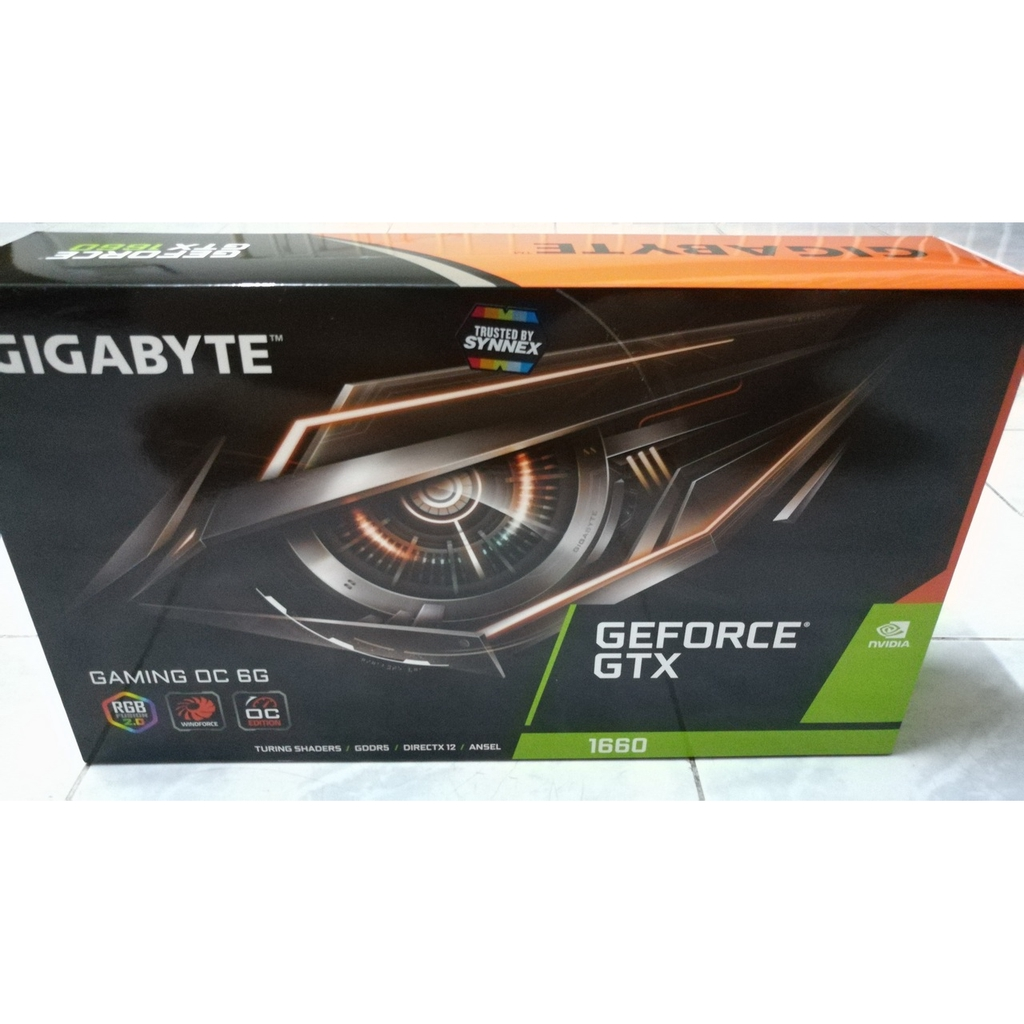 ***แรงกว่า 1650 SUPER*** มีไฟ RGB Gigabyte GTX 1660 GAMING OC 6GB