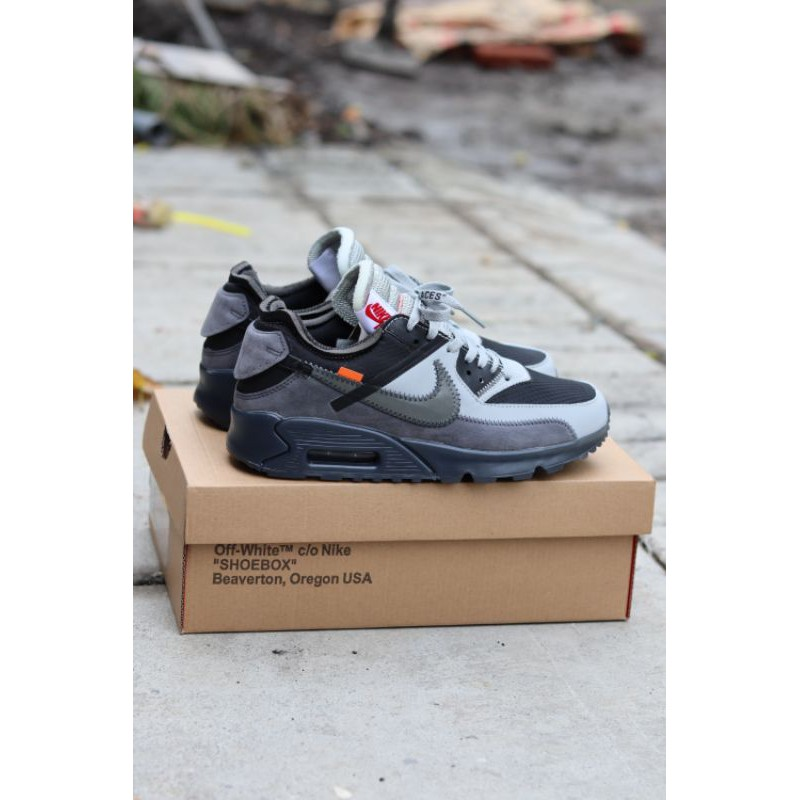Nike Airmax 90 X Off รองเท้าผ้าใบลําลองสีขาว