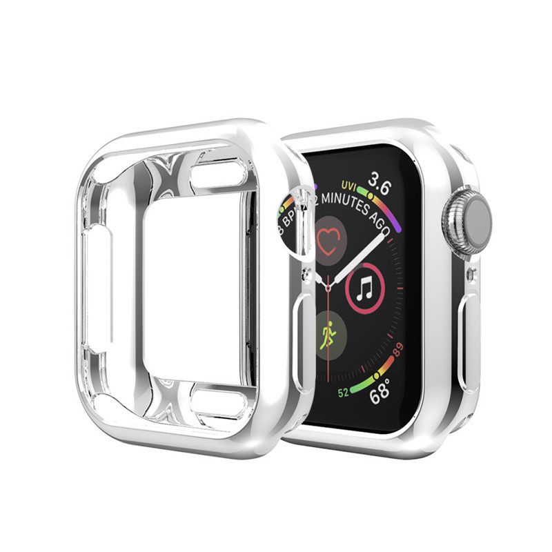 40mm/44mm Soft TPU Smart Watch Full Screen Coverage Protection Case For Apple Watch Series 1/2/3 Cover Housing For iWatch