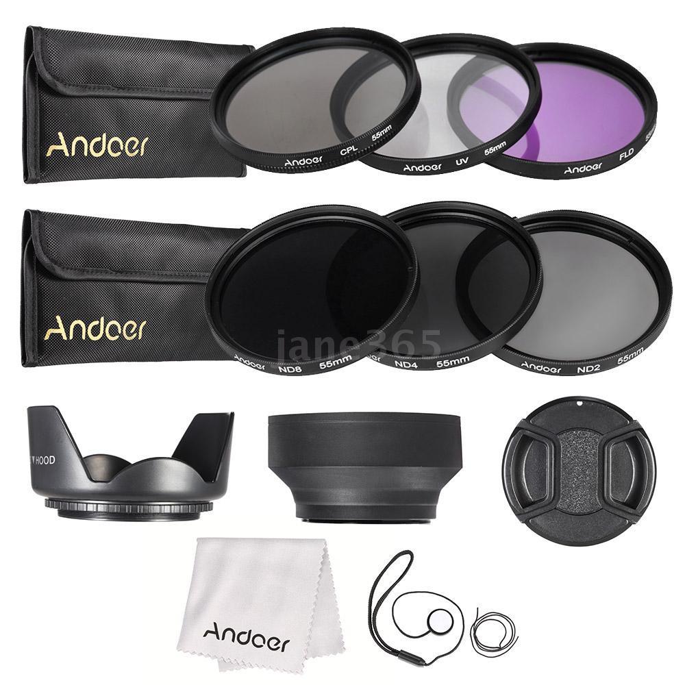 Hoya 55mm HMC UV--Circular Polarizer--ND8 3 Filter Set